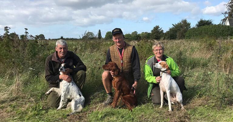 Tre gode unghunde ved prøven i Broby